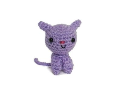 Purple Amigurumi Cat