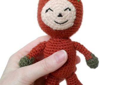 copper amigurumi doll